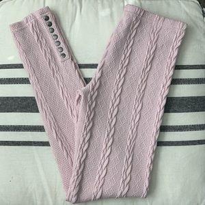 Lemon sweater leggings in light pink